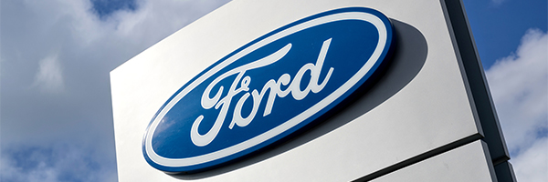 Ford one of few stocks in green today on electric F150 moves