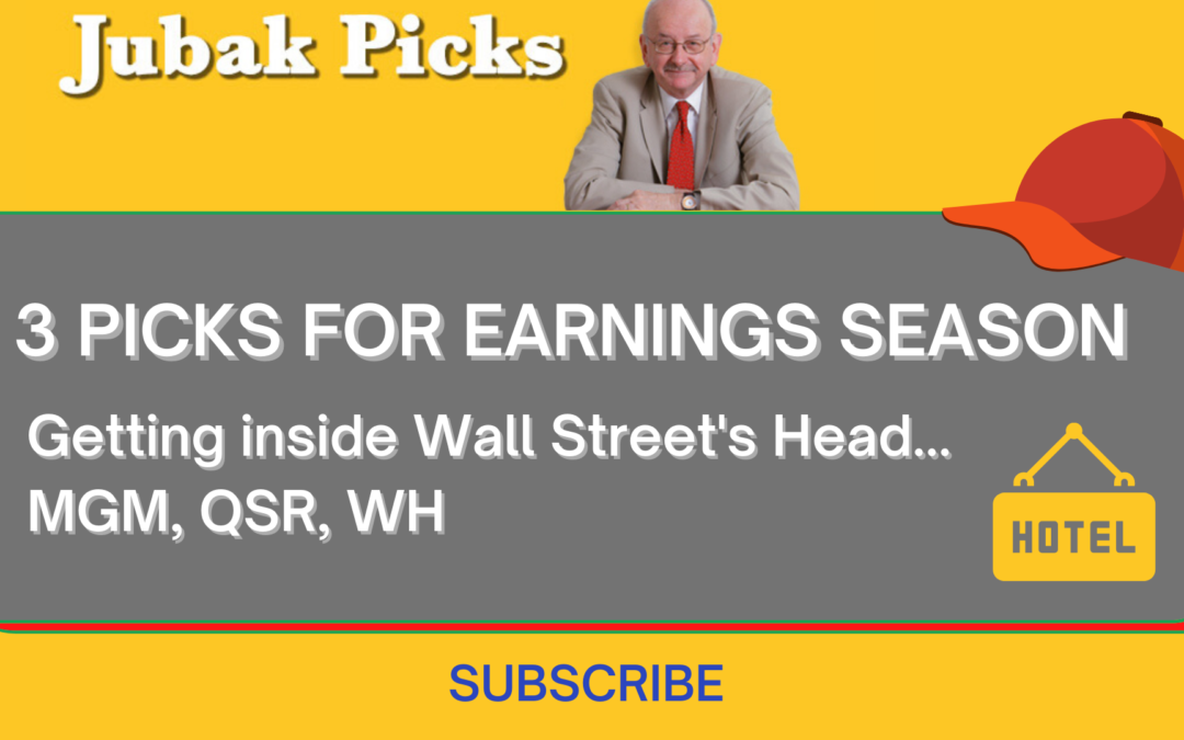 "Watch my new YouTube video: ""3 picks for earnings season"""