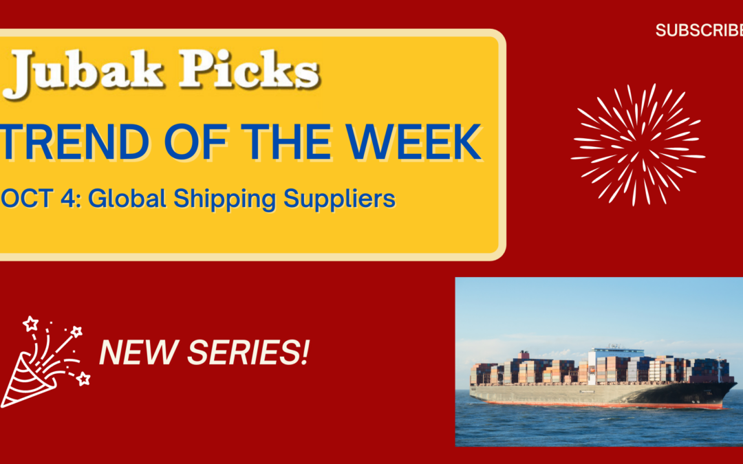 Watch my new YouTube video: Trend of the Week Global Shipping Stock Picks and the Supply Chain Opportunity